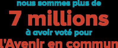 7 millions à avoir voté l'avenir en commun
