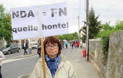 manifestation a Yerres pour protester contre l'alliance entre le