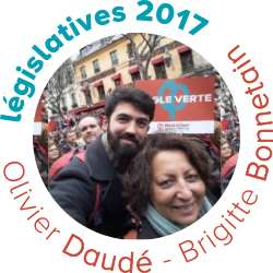 Olivier Daudé Brigitte Bonnetain candidats France Insoumise 10e circonscription rhône - législatives 2017