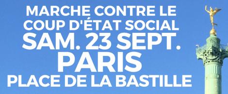 marche contre le coup d'état social 23 septembre 2017
